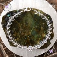 Clear Quartz Facet Feature Bracelet
